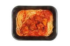 Spaghetti meatballs Stock Photo