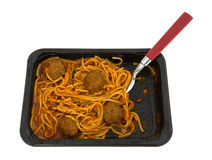 Spaghetti Meatballs With Fork Side Stock Photography