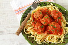 Spaghetti and meatballs Royalty Free Stock Image