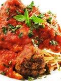 Spaghetti with meatballs Stock Image