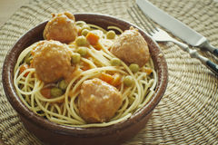 Spaghetti with meatballs Royalty Free Stock Images