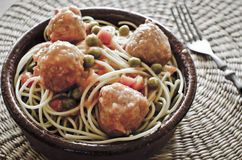 Spaghetti with meatballs Royalty Free Stock Photos