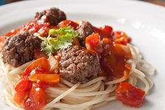 Spaghetti Meet ball Stock Images