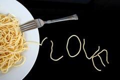 Spaghetti met liefde Stock Foto