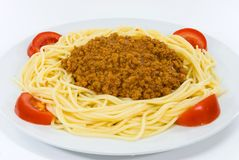 Spaghetti met saus bolognese Royalty-vrije Stock Foto