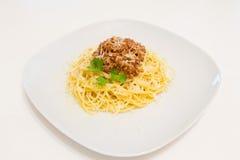 Spaghetti met saus bolognese Royalty-vrije Stock Fotografie