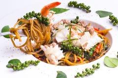 Spaghetti met Stootkussen Ki Mau stock foto