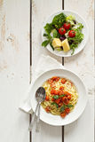 Spaghetti met tomatensaus Royalty-vrije Stock Afbeelding