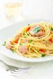 Spaghetti met Tonijn Stock Afbeeldingen