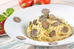 Spaghetti met verse truffel Royalty-vrije Stock Afbeelding