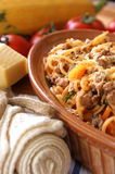 Spaghetti with mince meat and tomato sauce Royalty Free Stock Image