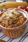 Spaghetti with mince meat and tomato sauce Stock Images
