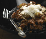 Spaghetti with minced meat Royalty Free Stock Image