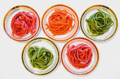 Spaghetti multicolori Fotografia Stock
