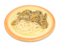 Spaghetti with mushroom sauce Stock Photography