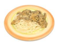 Spaghetti with mushroom sauce Stock Photography