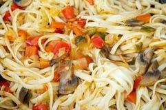 Spaghetti with mushrooms Stock Image