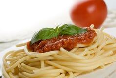 spaghetti na kolację zdjęcie stock