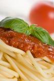 spaghetti na kolację obraz stock