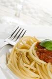spaghetti na kolację zdjęcia stock