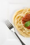 spaghetti na kolację Obraz Royalty Free