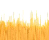 Spaghetti noodle background. Spaghetti noodle are located on the white background Stock Photography