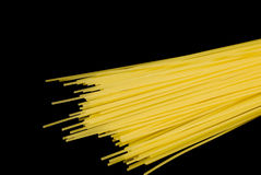 Spaghetti noodles. Isolated on the black background Royalty Free Stock Photos