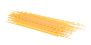 Spaghetti number three on a white background Stock Photography