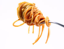 Spaghetti On A Fork Royalty Free Stock Images