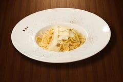 Spaghetti op plaat Royalty-vrije Stock Foto's
