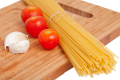 Spaghetti with other ingredients Stock Image
