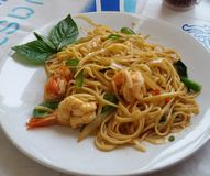 Spaghetti overzees voedsel Stock Fotografie