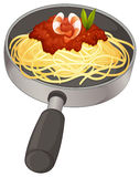 A spaghetti in a pan Stock Images