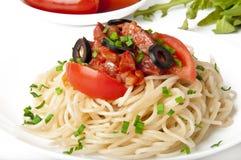 Spaghetti pasta. With tomato beef sauce Royalty Free Stock Image