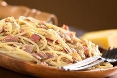 Spaghetti (Pasta) alla Carbonara Royalty Free Stock Photo