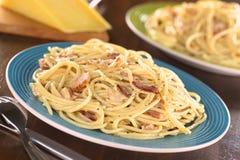 Spaghetti (Pasta) alla Carbonara Stock Photo