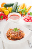 Spaghetti pasta with bolognese sauce Royalty Free Stock Images