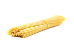Spaghetti pasta. Bunch of spaghetti pasta isolated on a white background Royalty Free Stock Photography