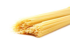 Spaghetti pasta. Bunch of spaghetti pasta isolated on a white background Royalty Free Stock Images