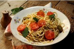 Spaghetti pasta clasic recipe italian food Stock Images