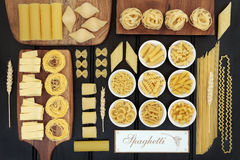 Spaghetti Pasta Dried Food Sampler Stock Image