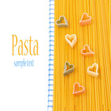 Spaghetti, pasta in the form of heart, concept, isolated Royalty Free Stock Photo