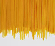 Spaghetti Pasta. Long spaghetti on a white background Royalty Free Stock Photos