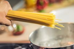 Spaghetti, Pasta, Noodles, Cooking Royalty Free Stock Photos