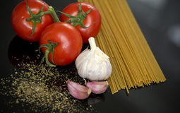 Spaghetti pasta preparation Royalty Free Stock Photos