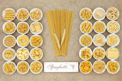Spaghetti Pasta Sampler Royalty Free Stock Images