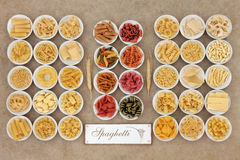 Spaghetti Pasta Selection Royalty Free Stock Images