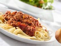 Spaghetti pasta with tomato beef sauce Royalty Free Stock Photo