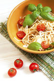 Spaghetti pasta with tomato Bolognese sauce Stock Images