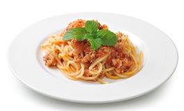Spaghetti pasta with tomato  sauce Royalty Free Stock Photography